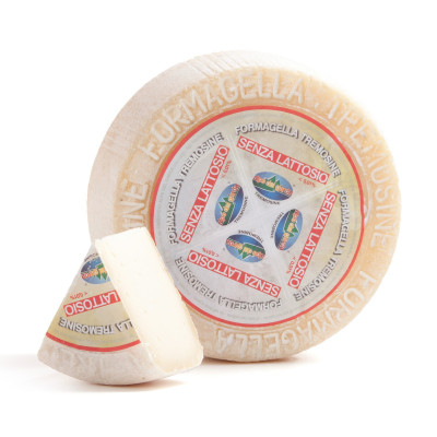 Lactose-free Formagella Tremosine cheese